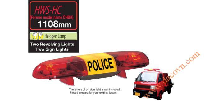 Đèn Còi hú báo hiệu xe Cảnh sát, Cứu hỏa, Cứu thương Patlite chuyên dụng