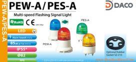 Đèn báo hiệu Patlite Φ82, LED, nhấp nháy, âm báo 85dB, IP55, PEW-AB