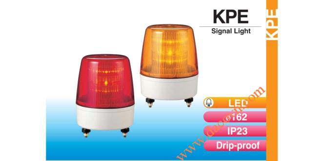 Đèn báo hiệu tín hiệu Patlite Φ162, bóng LED, nhấp nháy, IP23, KPE
