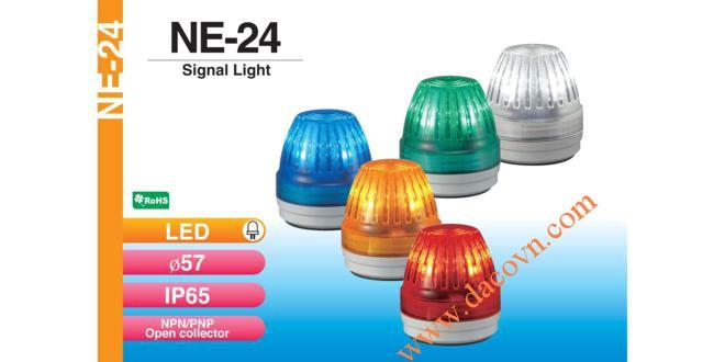Đèn báo hiệu cảnh báo tín hiệu Patlite Φ57, LED, chống rung, IP65, NE-24