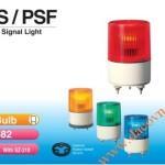 Den bao hieu canh bao tin hieu Patlite PS-PSF, Đèn báo hiệu tín hiệu Patlite Φ82, bóng sợi đốt, nhấp nháy, IP55, PS/PSF