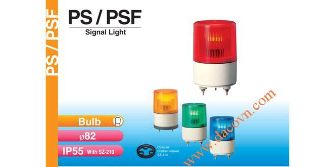 Đèn báo hiệu tín hiệu Patlite Φ82, bóng sợi đốt, nhấp nháy, IP55, PS/PSF