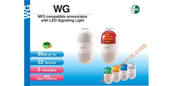 Đèn báo hiệu có Loa treo tường Patlite, âm báo MP3, 90dB, LED, IP20, WG