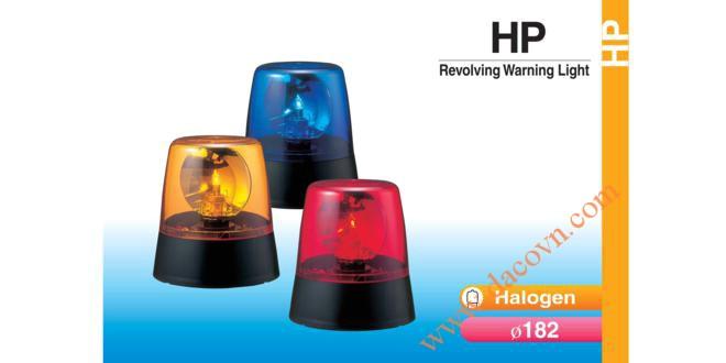 Đèn quay báo hiệu Patlite Φ182, bóng Halogen, 12VDC/24VDC, HP-12/24
