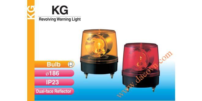 Đèn quay báo hiệu Patlite Φ186, bóng sợi đốt, 2 mặt phản xạ, IP23, KG