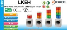Đèn tháp báo hiệu có Loa Patlite Φ100, 32 âm báo MP3, 105dB, IP53, LKEH