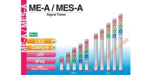 Den thap tang bao hieu tin hieu canh bao Patlite ME-A_MES-A, Đèn tháp tầng báo hiệu Patlite Φ25, bóng LED, IP42, ME-A / MES-A