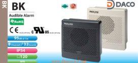Loa Còi báo hiệu Patlite, 32 âm báo 95dB, vuông 120mm, IP54, BK