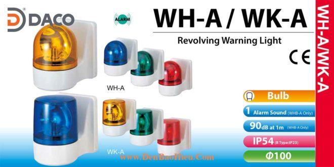 WH-A_WK-A Den quay bao hieu gan tuong Patlite phi 100