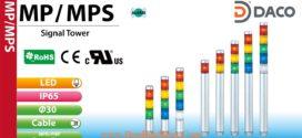 MP-502-RYGBC Đèn báo hiệu tháp Patlite Φ30 Bóng LED 5 tầng IP65