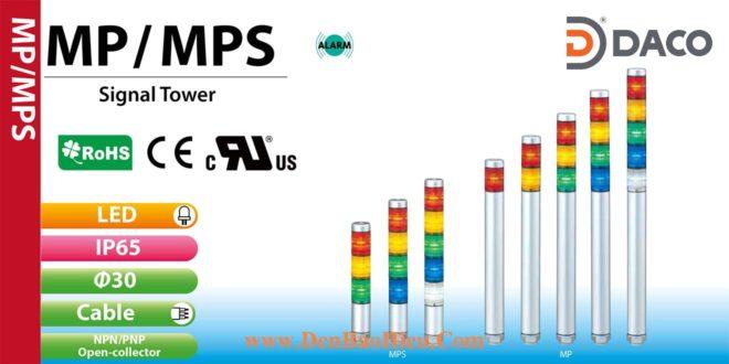 Đèn tháp tầng báo hiệu Patlite, đèn báo Φ30, bóng LED, IP65, MP / MPS