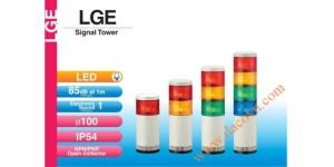 Den thap tang bao hieu tin hieu canh bao Patlite LGE, Đèn tháp tầng báo hiệu Patlite LED Φ100 âm báo 85dB nhấp nháy IP54 LGE