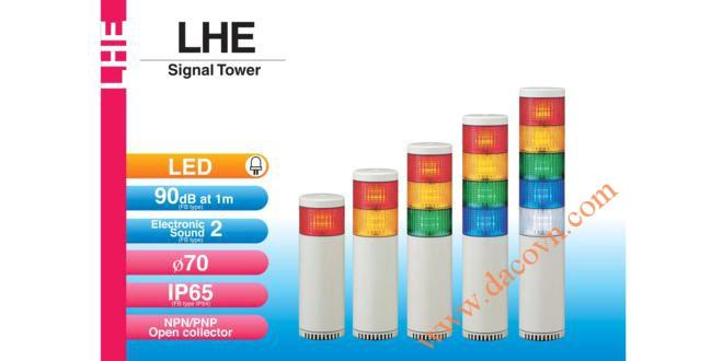 Đèn tháp tầng báo hiệu Patlite LED Φ70, còi 90dB, nhấp nháy, IP65, LHE