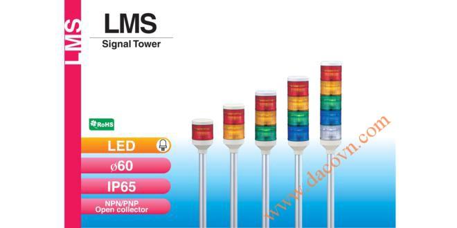 Đèn tháp tầng báo hiệu Patlite, đèn báo hiệu tháp LED Φ60, IP65, LMS