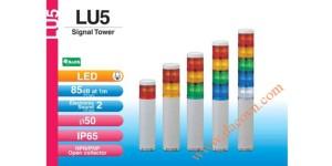 Den thap tang bao hieu tin hieu canh bao Patlite LU5, Đèn báo hiệu tháp tầng Patlite Module LU5 Φ50, còi 85dB, nhấp nháy, IP65, LU5/LU5-FB/LU5-E