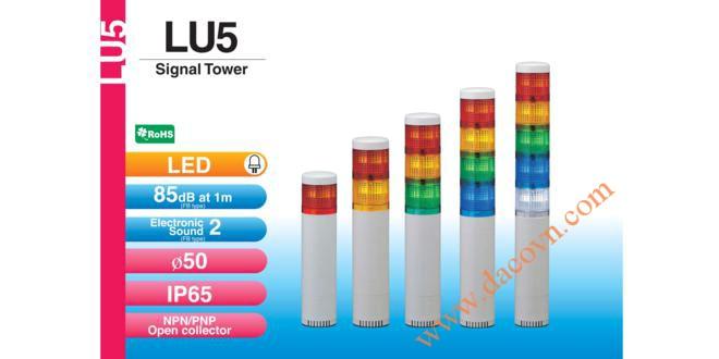Đèn báo hiệu tháp tầng Patlite Module LU5 Φ50, còi 85dB, nhấp nháy, IP65, LU5/LU5-FB/LU5-E