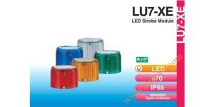 Den thap tang bao hieu tin hieu canh bao Patlite LU7-XE, Module đèn LED đèn tháp báo hiệu Patlite LU7 Φ70, nhấp nháy, LU7-XE