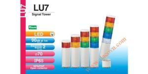 Den thap tang bao hieu tin hieu canh bao Patlite LU7, Đèn báo hiệu tháp tầng Patlite Module LU7 Φ70, còi 85dB, nhấp nháy, IP65, LU7/LU7-FB/LU7-E