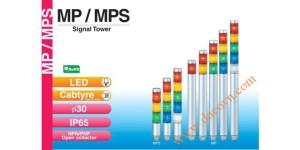 Den thap tang bao hieu tin hieu canh bao Patlite MP-MPS, Đèn tháp tầng báo hiệu Patlite, đèn báo Φ30, bóng LED, IP65, MP / MPS