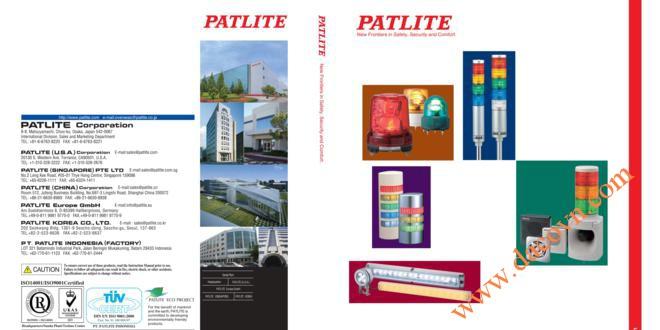 Catalog Đèn Loa Còi Báo Hiệu Cảnh Báo Tín Hiệu Patlite – Nhật Bản