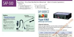 Bộ tạo chọn tín hiệu còi hú Patlite SAP-500EBZ, SAP-500ECZ, 50W, 12&24VDC Không có đèn báo chức năng