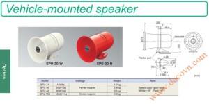 Vehicle mounted speaker SPU Còi hú báo động Patlite bằng động cơ motor Cho xe ưu tiên