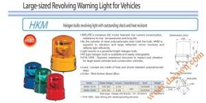 Đèn quay báo hiệu Patlite dùng cho xe HKM - Den quay bao hieu Patlite HKM