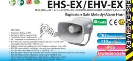 Loa báo hiệu Phòng nổ Patlite IP65, ATEX, 63 âm báo, Ghi Âm MP3, 110dB, EHV-EX