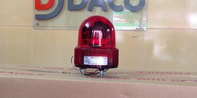 Đèn quay Đèn xoay bóng LED, có Còi dùng cho Xe nâng, Xe Forklift Patlite SKHEB-Mở Hộp