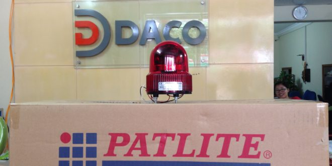 Den quay xoay bong LED co Coi cho xe nang Forklift Patlite SKHEB