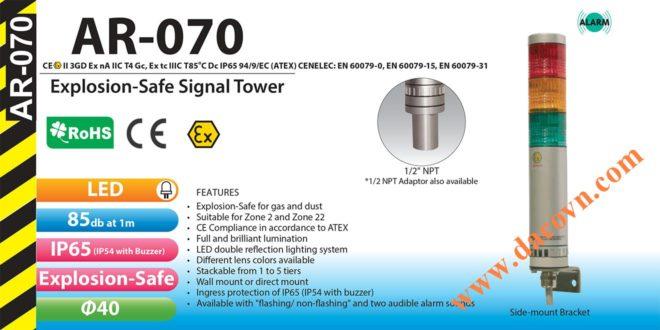 Đèn tháp Phòng Nổ Patlite 1-2-3-4-5 tầng, LED Φ40 AR-070