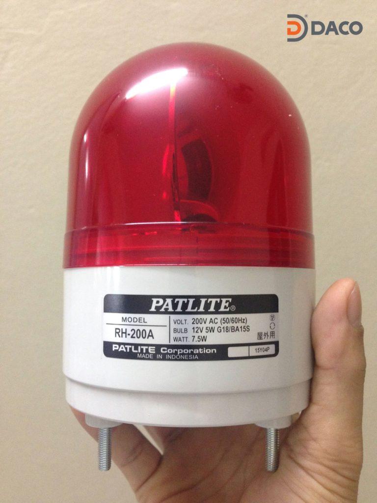 Den quay bao hieu Patlite Phi 100, RH-200A-R