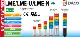 Đèn tháp 1-2-3-4-5 tầng báo hiệu Patlite LED Φ60, Sáng liên tục, IP65, LME