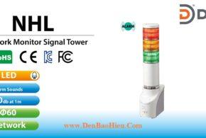 Đèn tháp Kết nối Điều khiển Mạng LAN Patlite Φ40 NHP-3FB2, NHP-3FV2