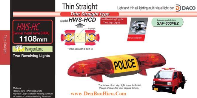Đèn báo hiệu xe cảnh sát, cứu thương Patlite 1108mm: HWS-12HC
