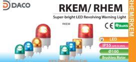Đèn quay Báo hiệu Φ100, Bóng LED, Chip siêu sáng, IP55, RKEM, RHEM