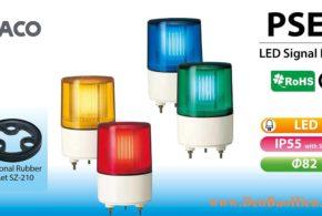 PSE Đèn Báo Hiệu Patlite Φ82, LED, Nhấp Nháy, IP55, PSE