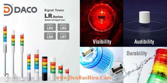 LR5-Đèn tháp Patlite Bóng LED Φ50 IP65 Ghép Module LR5